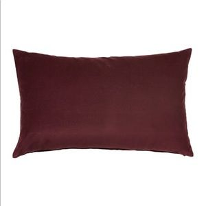 "IKEA Sanela Cushion Cover Dark Red 16x26"" New"